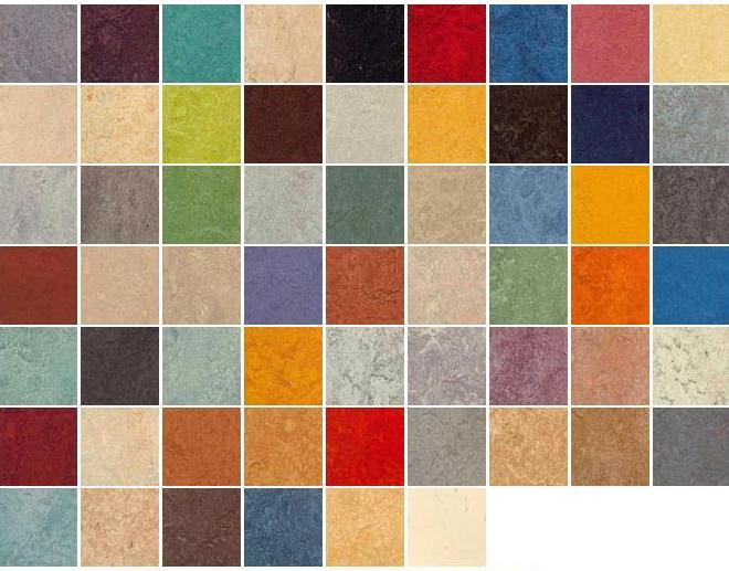 Многообразие цветовой гаммы линолеума коммерческого фирмы Таркетт