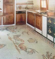Линолеум в кухни с рисунком