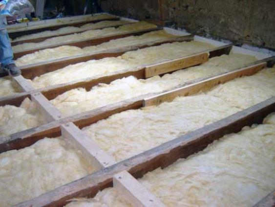 Организация бетонных полов в бане, утепление