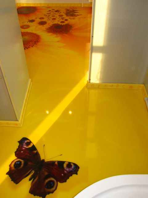 В жилых помещениях чаще всего устраивают трехмерные полимерные покрытия