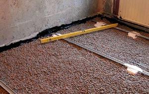 Работы по обустройству бетоного пола по грунту