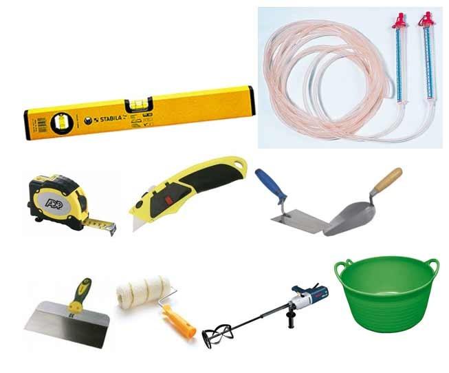 Необходимые инструменты для обработки бетонного покрытия