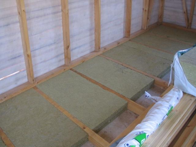 Так, утепление бетонного покрытия первого этажа может проводиться с использованием деревянных лаг