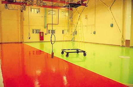 Использования покрытия в производственных помещениях