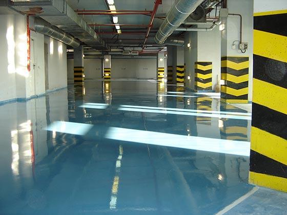полимерное наливное покрытие в служебных помещениях