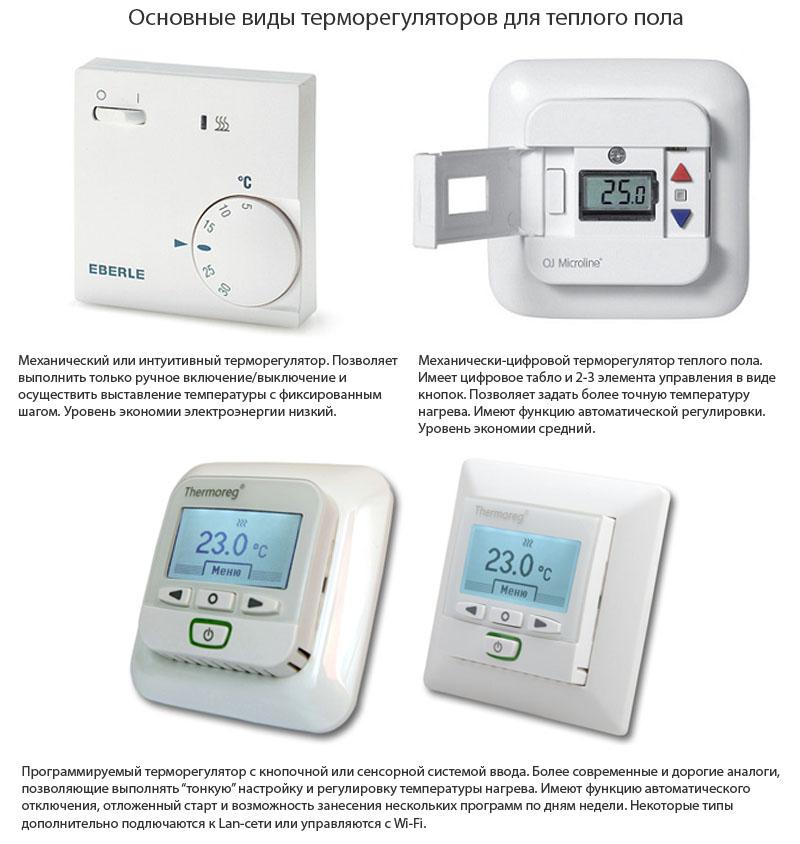 Основные виды термолегуляторов