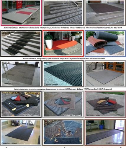 Сфера применения грязезащитных ковров