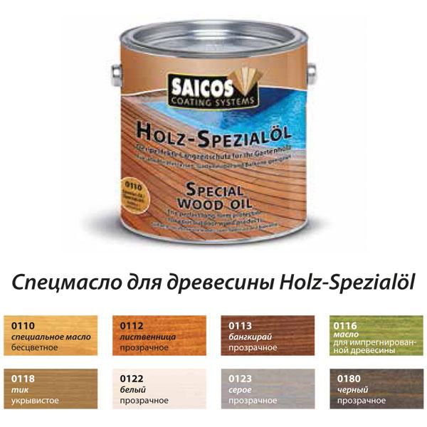 Продукция компании Saiсos Holz Spezialol(Германия)