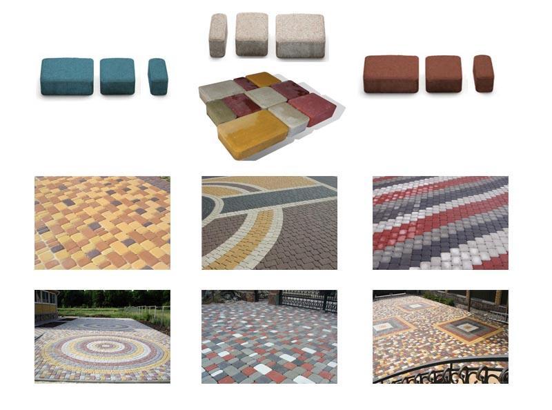 Различные формы и виды тратуарной плитки