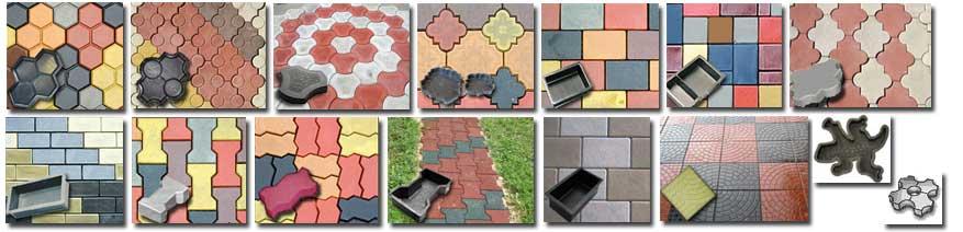 Различные вида полимерной плитки