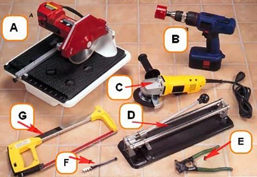Необходымий инструмент для резки плитки