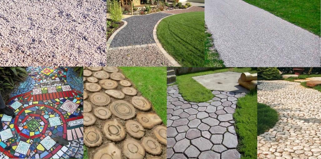 Виды тратуарной плитки для садовых дорожек
